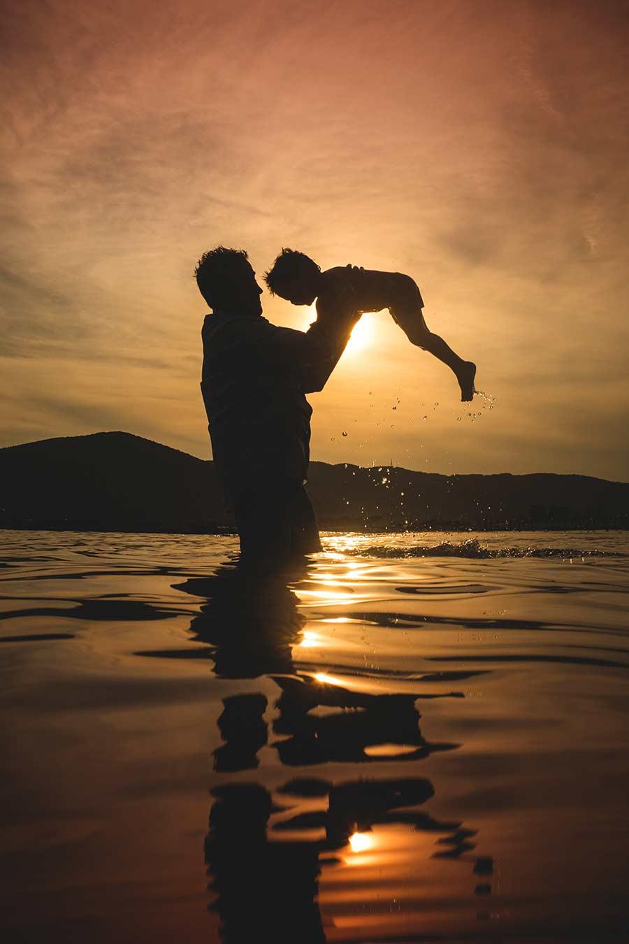 foto bambini e famiglie-la spezia-gabriele zani #kids mare estate #family tramonto