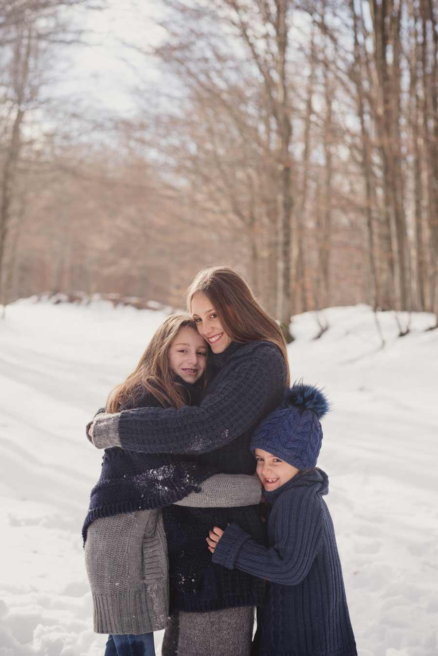 foto bambini e famiglie la spezia gabriele zani neve sorrisi abbracci