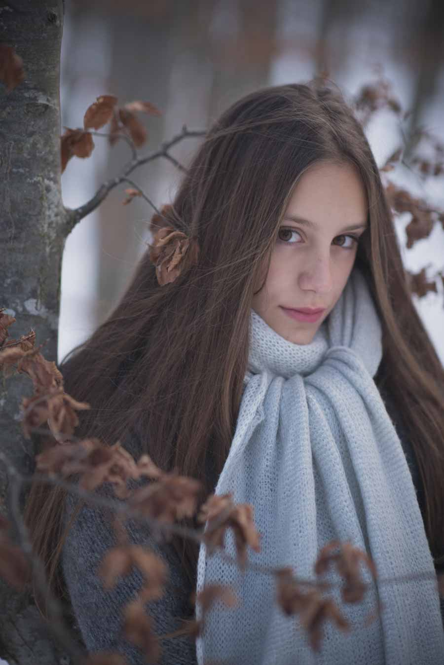 foto bambine sulla neve gabriele zani #portrait
