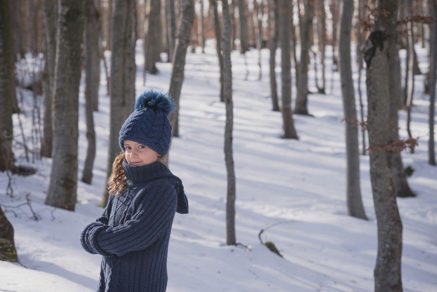foto bambine sulla neve gabriele zani bosco sorriso blu